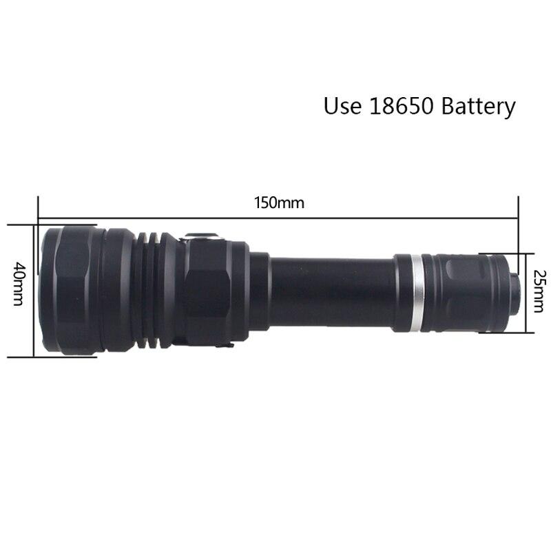 autodefesa luz modos arma 18650 05