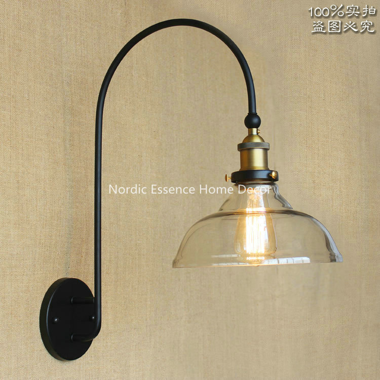 Nordic American minimalist high-grade large curved long arm living room front wall aisle stairs decorative lighting wall lamp