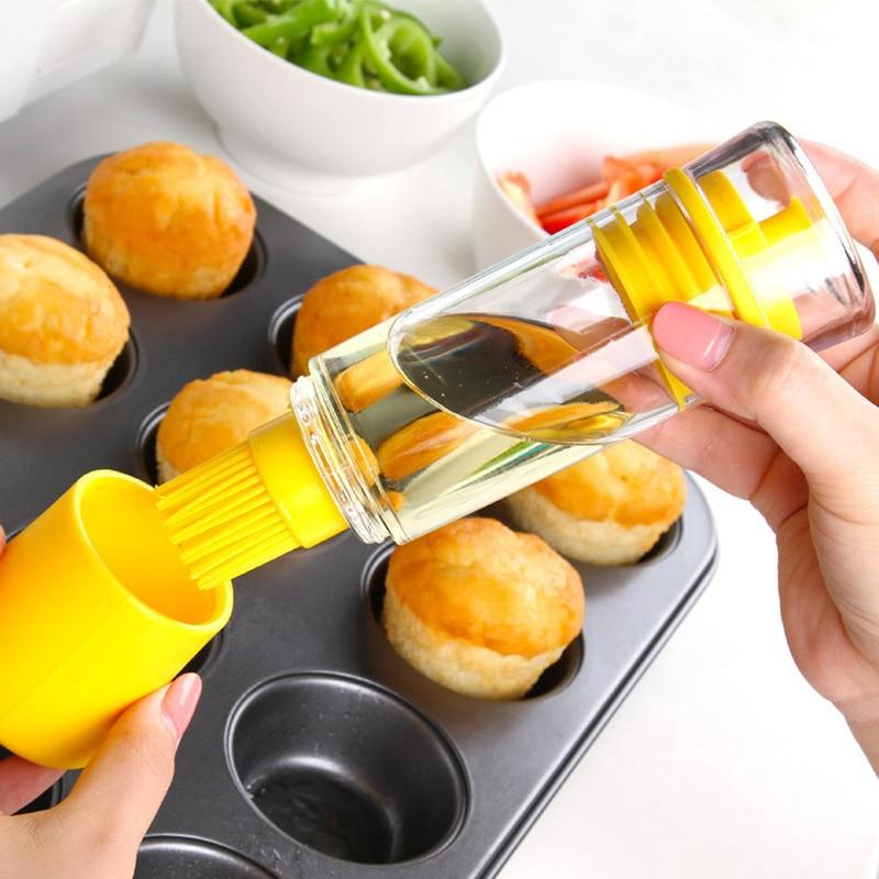 Хорошее качество силиконовые Кухня Инструмент Силиконовые Мёд масла щетка бутылки Пособи ...