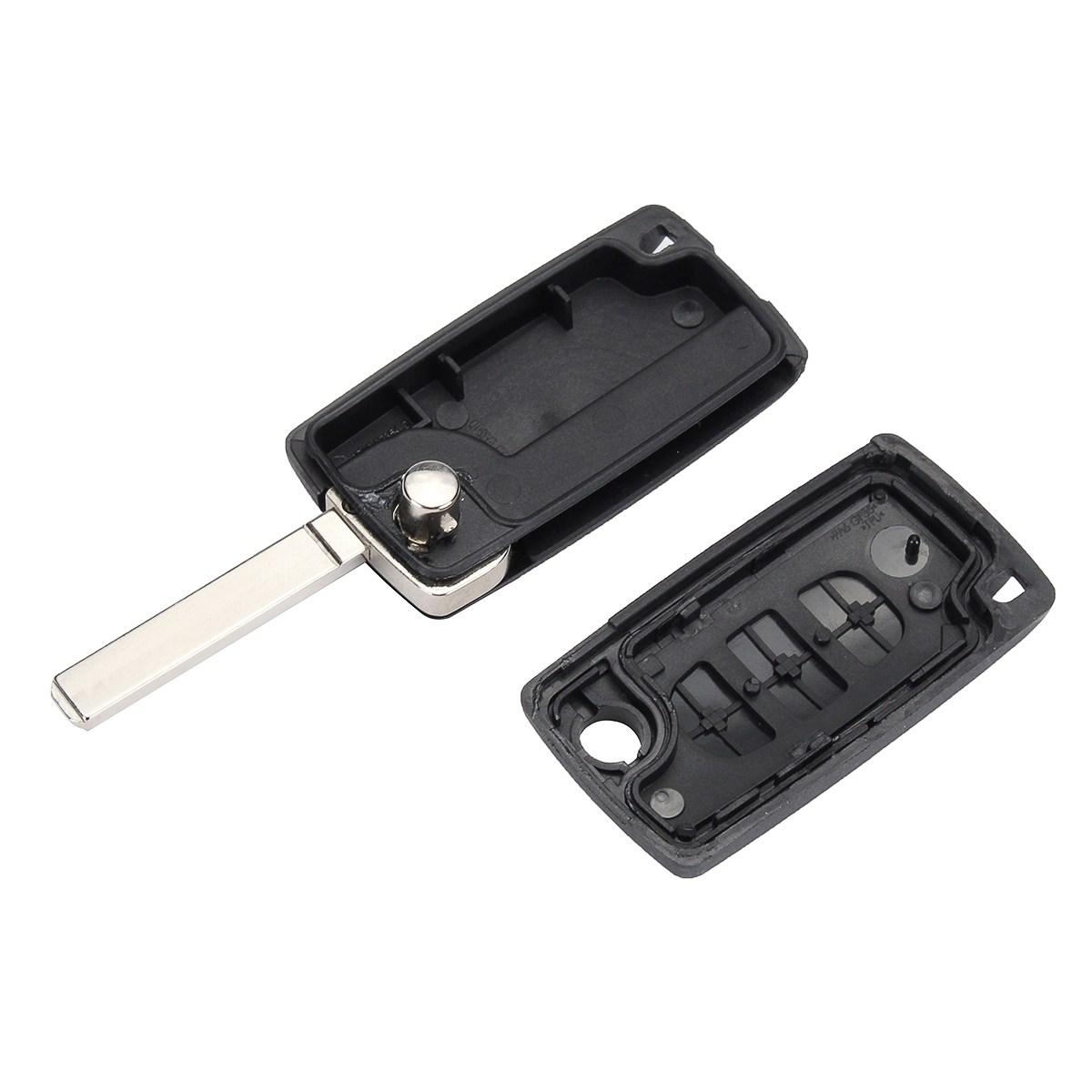 3 button car remote flip key fob case repair va2 blade for peugeot
