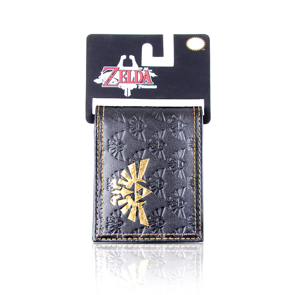 Legend of Zelda Wallet Embossed Printed Bi-fold Men's Wallet zelda pu wallet Credit Card Bag novelty legend of zelda breath of the wild bi fold wallet dft 10061