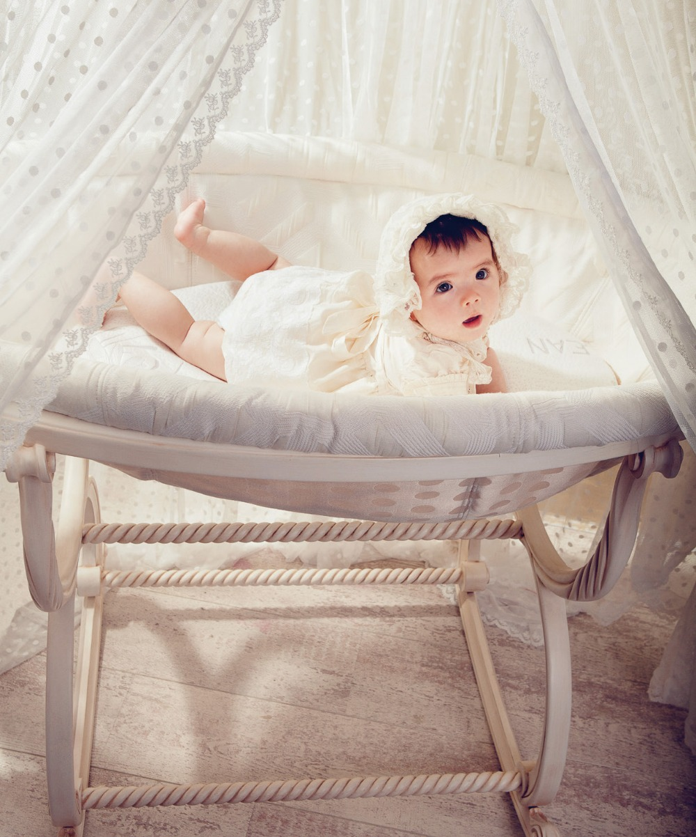 Baby bed online shopping - European Luxury Wooden Basket Shape Crib Fantastic Baby Cot German Beech Cradle Bed China