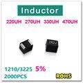 Jasnprosma 2000 шт. 1210 3225 индуктор поверхностного монтажа 220UH 270UH 330UH 470UH новый оригинальный высокое качество