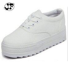 Mode 2016 femmes toile Chaussures Plate-Forme Hauteur Croissante Femmes Chaussures compensées talons chaussures 5A106
