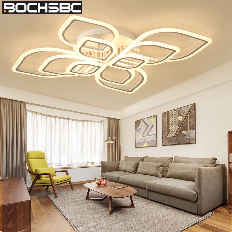 BOCHSBC 2/4/6/8/10 Ring Led Chandelier for Bedroom Living Room Dining Room Acrylic Lampshade Ceiling Chandelier Lighting FixtureBOCHSBC 2/4/6/8/10 Ring Led Chandelier for Bedroom Living Room Dining Room Acrylic Lampshade Ceiling Chandelier Lighting Fixture