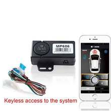 Smartphone car alarm system compatible with ios and android