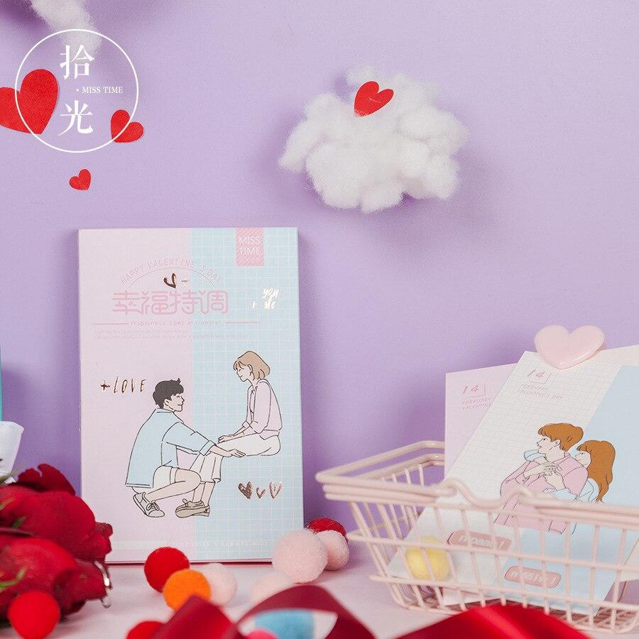 30 Blätter/set Neuheit Glücklich Valentinstag Postkarte Gruß Karte Nachricht Karte Geburtstag Geschenk Karte