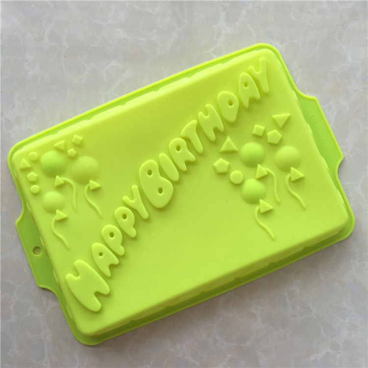 HAPPY BIRTHDAY English Alphabet Silicone Birthday Cake Mold Party Pan Bakeware Free Shipping In Molds From Home Garden On