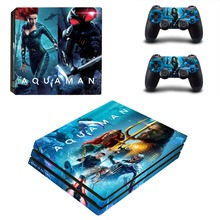 DC Aquaman PS4 Pro Skin Sticker For PlayStation 4 Console and 2 Controllers PS4 Pro Skin Stickers Decal Vinyl
