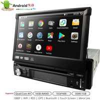 "Hizpo Quad Core 7"" 1Din Android 9.0 Car DVD Radio Multimedia Player 1024*600 Universal GPS Navigation auto radio Stereo Audio BT"