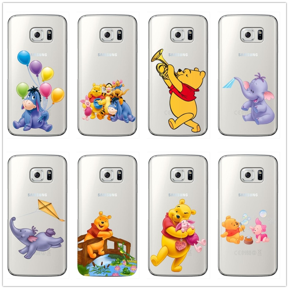 The Winnie Pooh Cartoon Naughty Lovely Eeyore soft Silicone Phone Case Cover For font b Samsung
