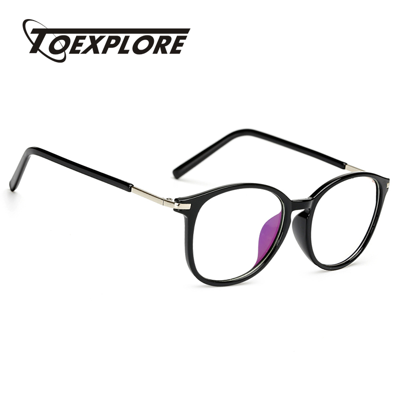 TOEXPLORE New Fashion Men Women Eyewear Frame Vintage Retro Optical Glasses Goggle Brand Designer For Computer High Quality TR90
