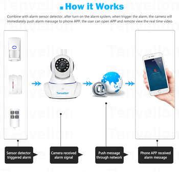 Alarm Systems Security WIFI IP Camera Security System Video Surveillance Camera Wireless Home Alarm System With Sensor Alarm