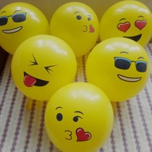 50pcs/lot 12 inch thick round print yellow latex balloons baby shower decorations kids birthday party balloon zoo supplies