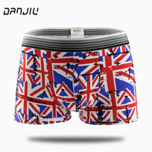 DANJIU Brand Hot Cartoon male Underwear Sexy men's shorts men Boxer Shorts Comfortable Breathable Underpants Boxers Homme Cueca