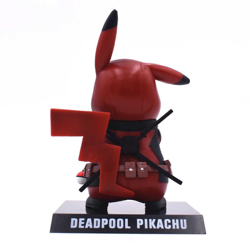 15 cm Action Figure Coleção Toy Pikachu Cos Deadpool PVC Figura Collectible Modelo Crianças Presentes Frete Grátis