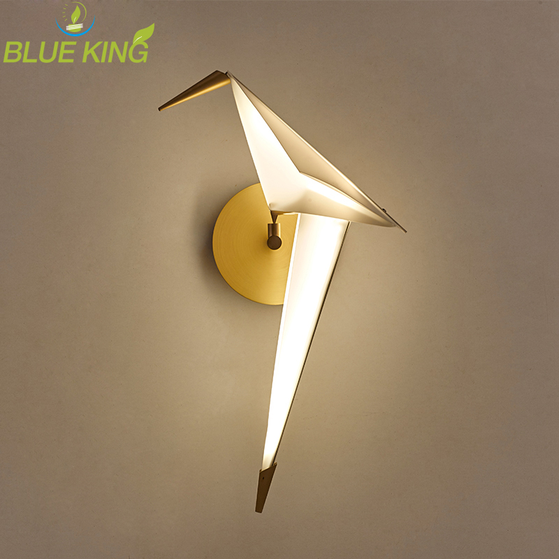 Post modern LED living room wall sconces novelty aisle lighting nordic fixtures loft bird wall lamps bedroom bedside wall lights матрас пружинный gloria 140х200 см