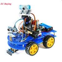 Bluetooth Multi Functional DIY 4WD Smart Robot Car Kit Video For Arduino Robot Car