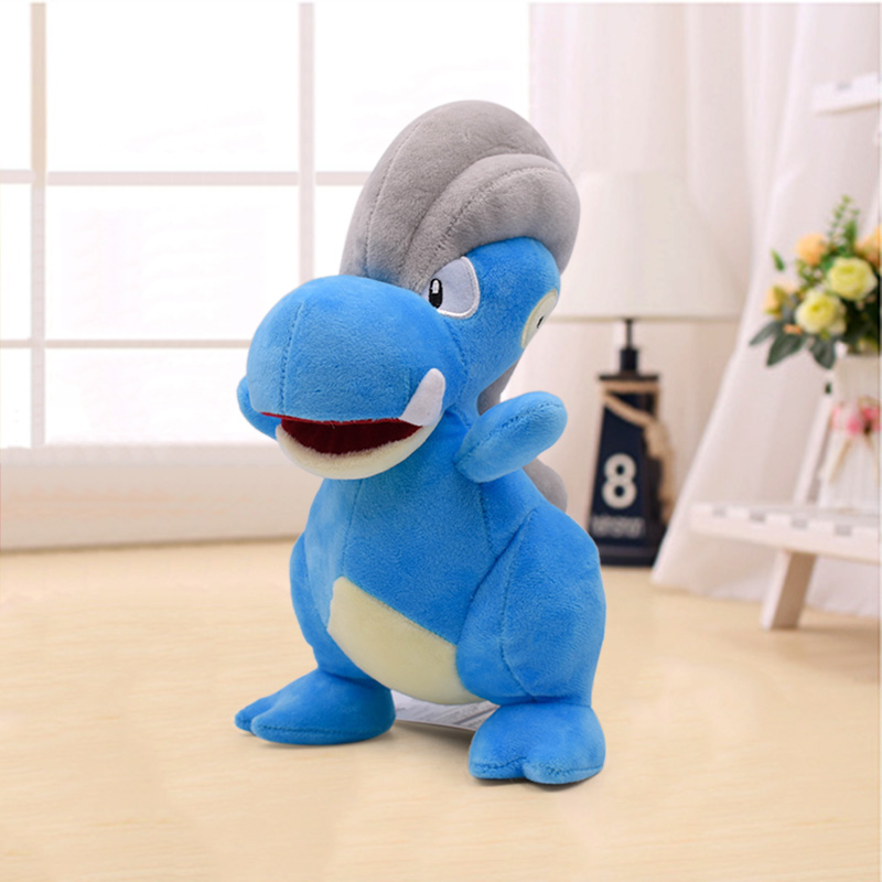 Bagon Soft Plush Kids Toy Dolls Anime Cartoon Cute Blue Stuffed Animals Peluche Christmas Gift