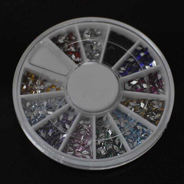 Wholesale Nail Art Rhinestones Glitters Gems Nail Art Decoration Wheel, 10set/lot + Free Shipping