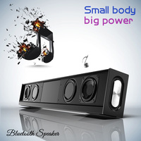 High power 20W Sound Bar Dual speaker Subwoofer Portable Column Bluetooth Speaker with FM Radio TF AUX 4500 mAh for TV Computer