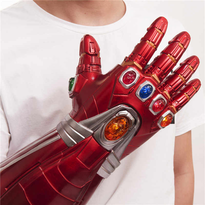 Copslay Avengers Endgame Iron Man Infinity Gauntlet LED Gloves Tony Stark Prop