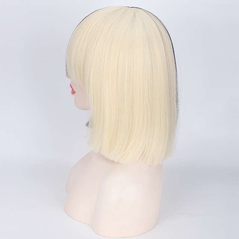 New High Quality Sexy Womens Sia Wig Medium Long Half Black And Blonde Cosplay Party WigsSynthetic Hair On Aliexpress