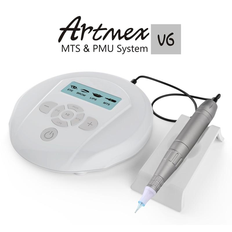 Direct Selling Artmex V6 Professional Tattoo Machine Digital Permanent Makeup Machine Eyebrow Eyeliner Tattoo Pen Kit Maquiagem