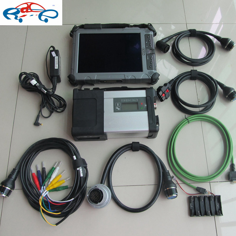 top tough tablet ix104 i7cpu installed with mb sd c5 diagnostic tool software 2017.05v with mb star c5 multiplexer full set