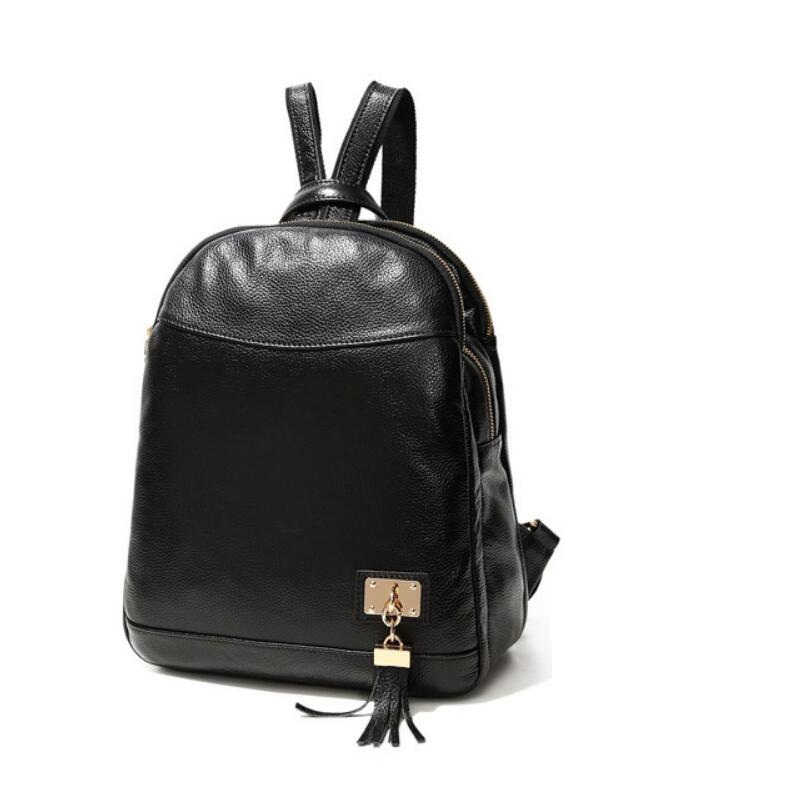 2018 Fashion Genuine Leather Women Backpack High Quality Famous Brand Women School Bag Girl Women Backpack Cowhide Travel Bags