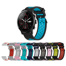 20 22mm Silicone Replacement Bracelet For Apple Watch 1/2/3/4 Smart strap band for Huawei 2/samsung/LG Watch/Ticwatch 1