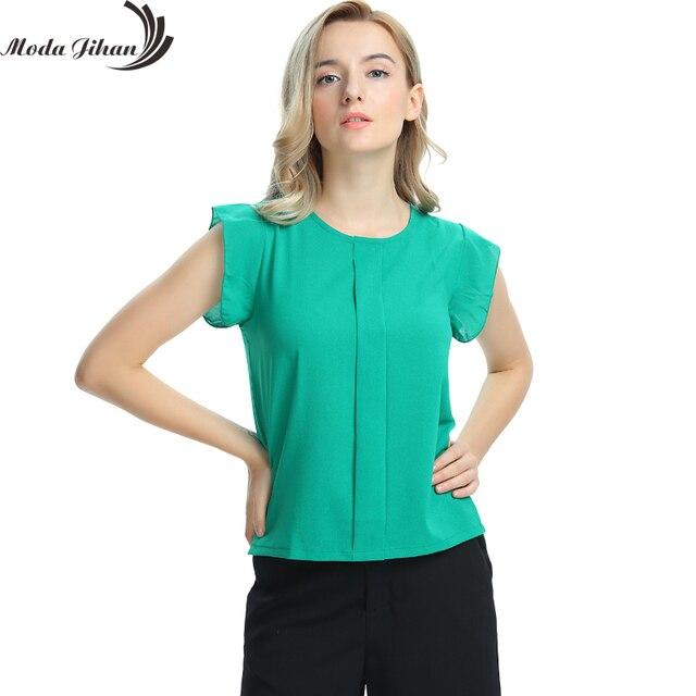 537b77ba6 Mulheres Blusas   Camisas de Chiffon Roupas de Verão Senhoras Blusa Camisa  Nova Moda 2017