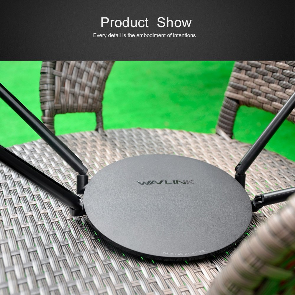 Wifi Router 1200Mbps Wireless Smart WI-FI Router Repeater USB Port Dual Band 2.4Ghz/5Ghz 802.11ac External Antennas App Control wavlink 1200mbps dual band wifi router smart wireless wi fi router usb port 2 4g 5g ac1200 4x5dbi external antennas app control