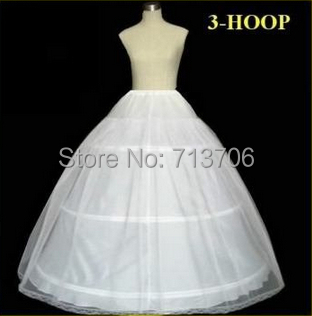 Real Photo Hot Sale 50% off 3 HOOP Ball Gown Bone Full Crinoline Petticoat Wedding Skirt Slip New H-3 Fast Shipping