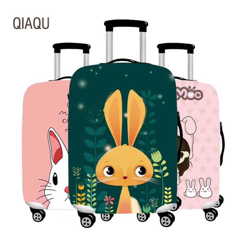 QIAQU Thicker Cartoon Travel Suitcase Protective Cover Luggage Case  Elastic Luggage Dust Cover Apply to 18''-32'' Suitcase