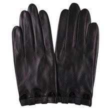 Gants en cuir véritable pour femmes, de Style fin, non doublés, pour conduire, écran tactile en peau de mouton, L17047