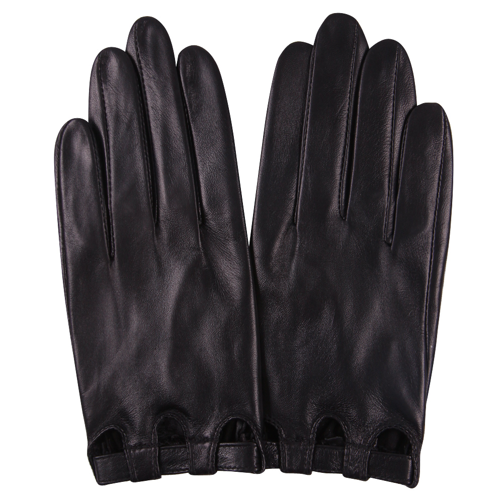 Genuine Leather Woman Gloves Spring Autumn Thin Style Unlined Driving Fashion Touchscreen Sheepskin Gloves Female L17047