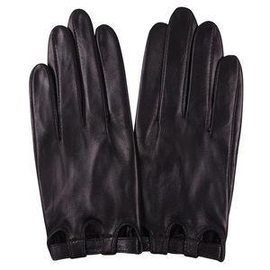 Image 1 - Genuine Leather Woman Gloves Spring Autumn Thin Style Unlined Driving Fashion Touchscreen Sheepskin Gloves Female L17047