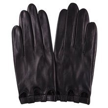 Hakiki deri kadın eldiven bahar sonbahar ince stil çizgisiz sürüş moda dokunmatik ekran koyun derisi eldiven kadın L17047