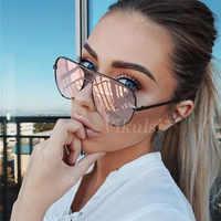 New Brand Designer Fashion Sunglasses Women's Oversized Pilot Sun glasses For Women Luxury Shades 2019 New Lunettes Femme UV400