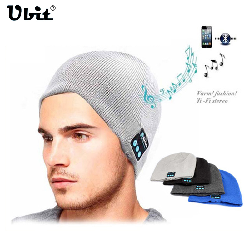 Ubit bluetooth kopfhörer hut für iphone samsung android handys männer frauen winter outdoor-sport bluetooth stereo musik hut wireless