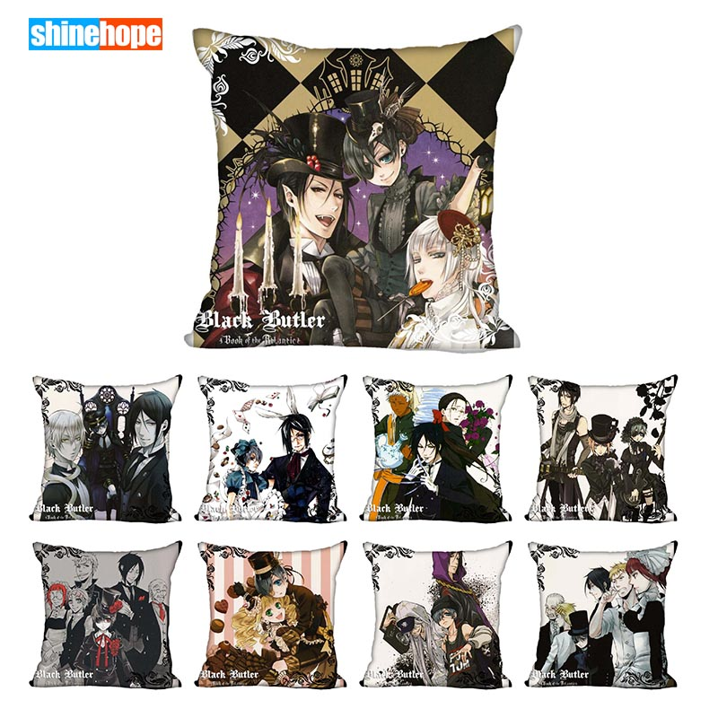 Best Black Butler Pillowcase Wedding Decorative Pillow Cover Custom Gift For (one Sides) Printed Pillow Cases