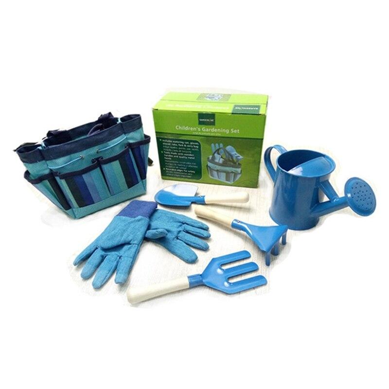 Little Gardener Tool Set With Bag Children Kids Gardening Boys Girls Toy Gift