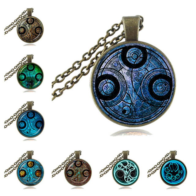 Doctor Who Necklace The Time Stamp In Gallifreyan Pendant Steampunk
