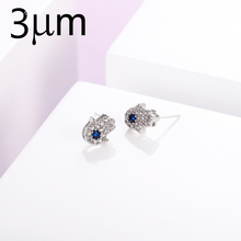 3UMeter Earring Studs New Arrival Natural Stone Earrings Zircon Cubic Palm