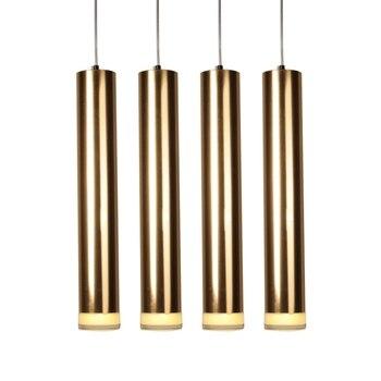 3/4/5/6/8 cm moderne pendentif lampe cuisine île salle à manger salon décoration brossé or/argent tuyau pendentif Bar comptoir lumière