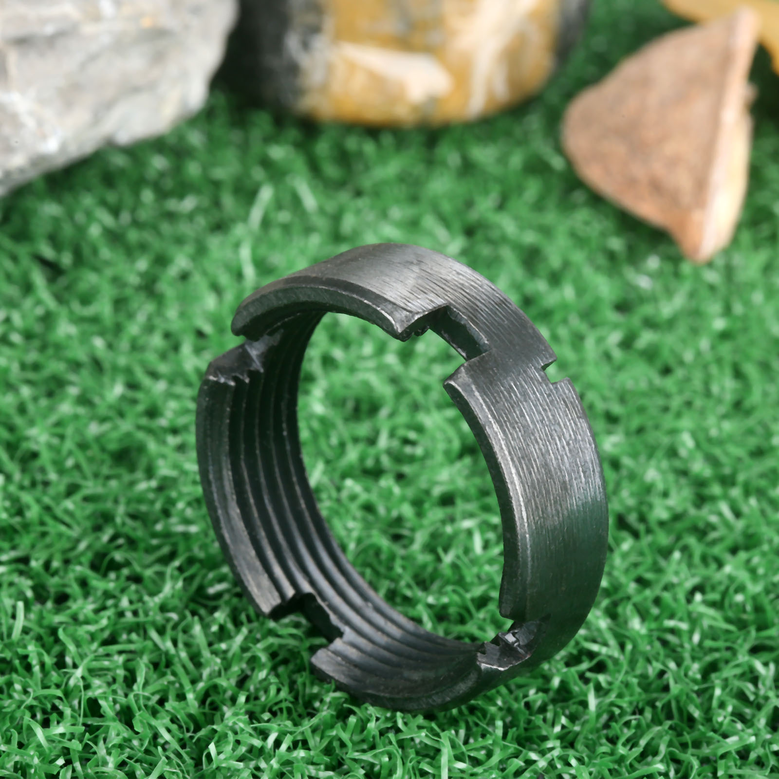 Tactical Aluminum Alloy .223/5.56 Rifle Castle Lock Ring Nut For Carbine Eceiver Extensions Stock Buffer Tube Locking Castle Nut