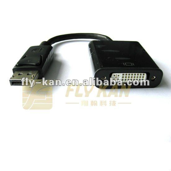 Free Shipping 10pcs/lot Active Display Port to Single Link DVI adapter, DP to DVI adapter, DP001A