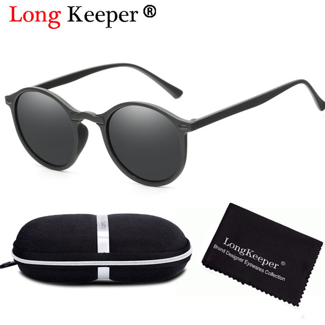 345ff288a65f Long Keeper Vintage Women Men Polarized Sunglasses Round Retro Rivet Frame Sun  Glasses Men UV400 Goggle Gafas de sol with Case