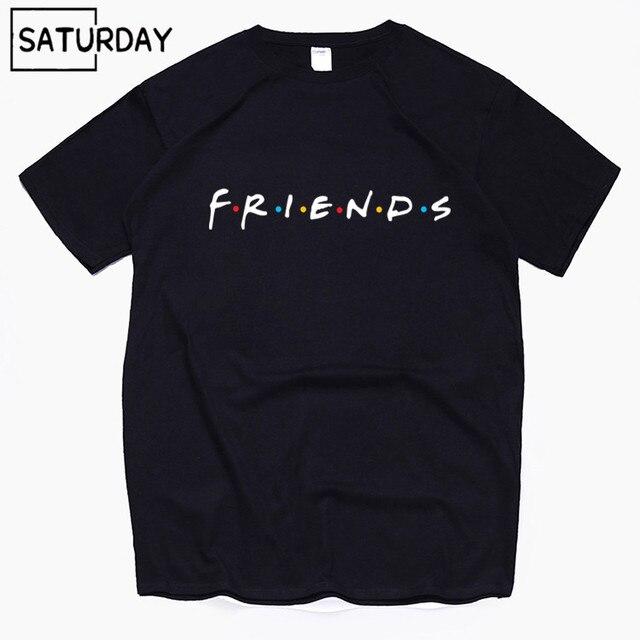 Amigos Tv Harajuku Engraçado T Camisas de Algodão dos homens Unisex Verão Treino Camisetas Mulheres Tops de Hip Hop Dom Namorado